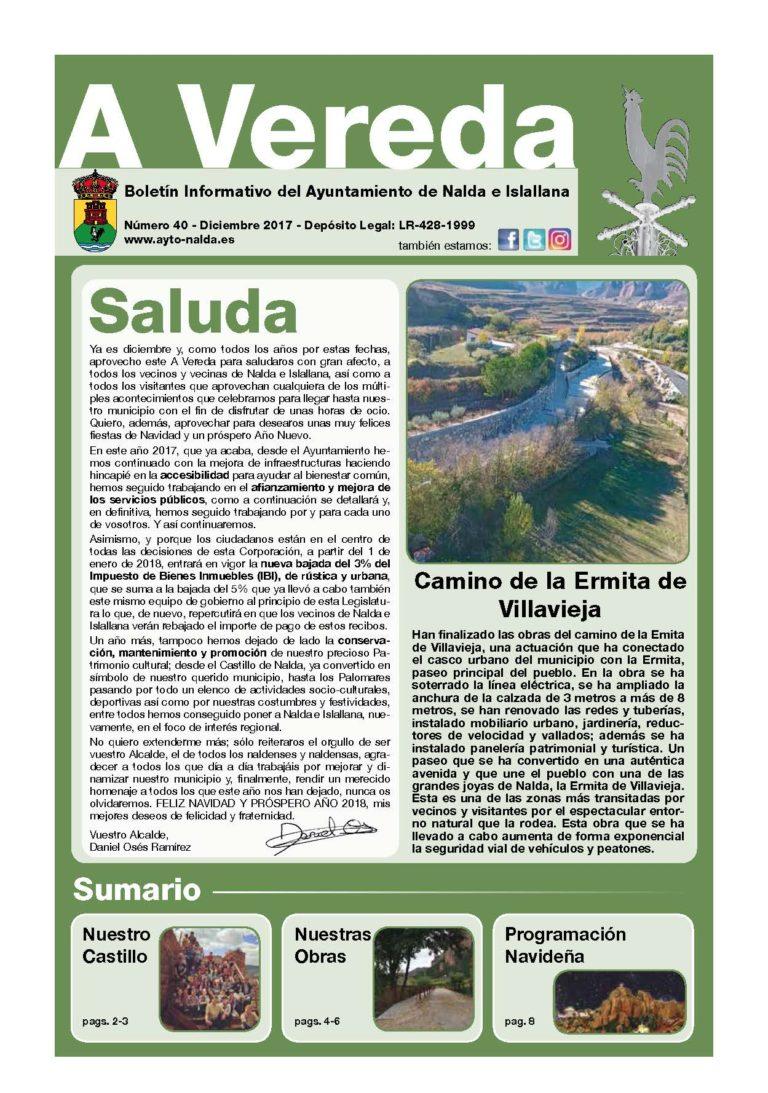 "Revista Municipal ""A Vereda"" Nº 40"