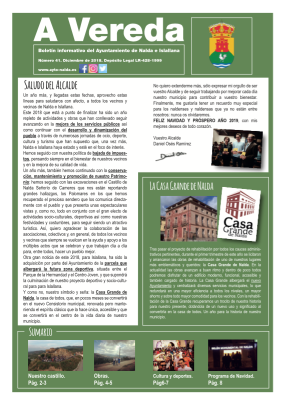 Revista Municipal «A Vereda» Nº 41